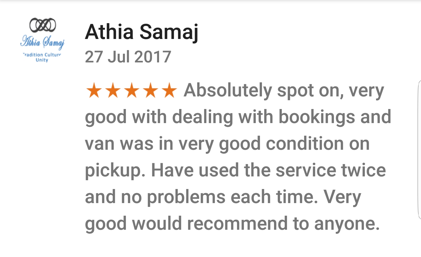 Jafvans Google Review 1