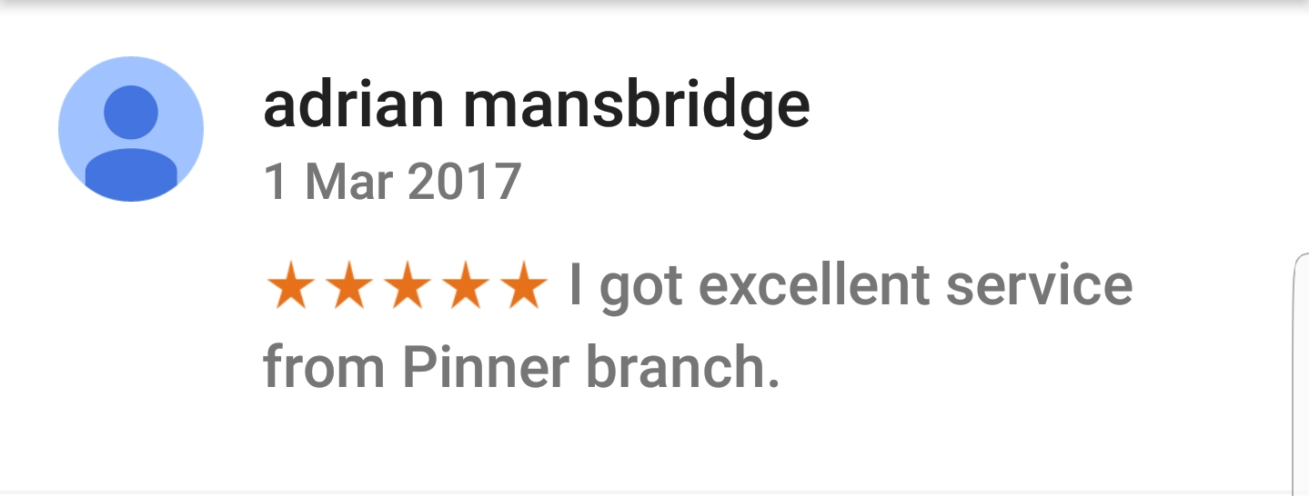 Pinner Google Review 3