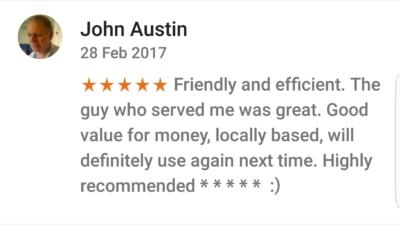 Pinner Google Review 4