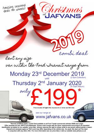 Christmas Van rentals - Deal 2