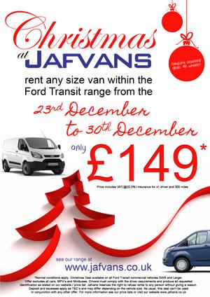 Christmas Van rentals - Deal 1